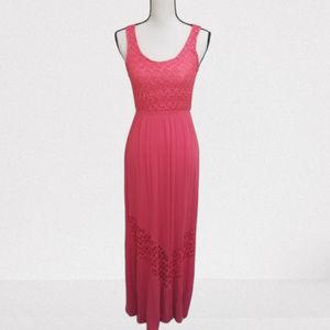 Finn & Clover XS Pink Maxi Dress
